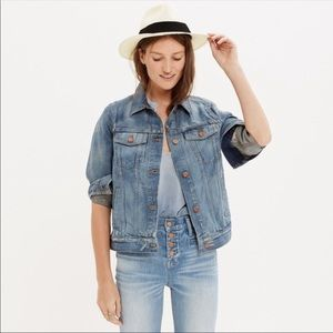 Madewell The Jean Jacket Distressed In Ellery
